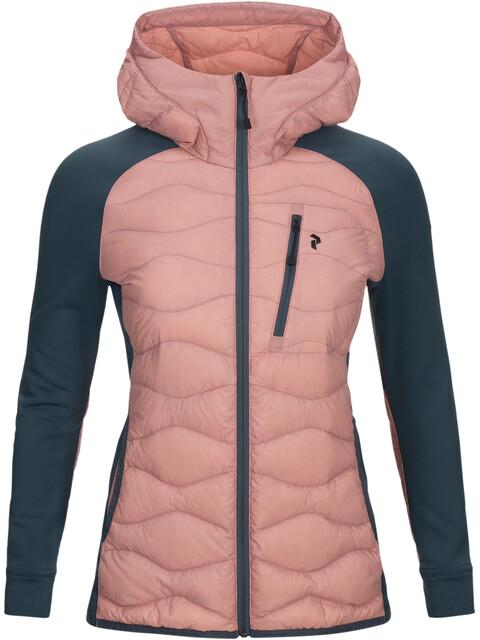 Peak Performance W's Helium Hybrid Hood Jacket Warm Blush